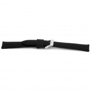 Horlogeband Universeel C010 Leder Zwart 12mm