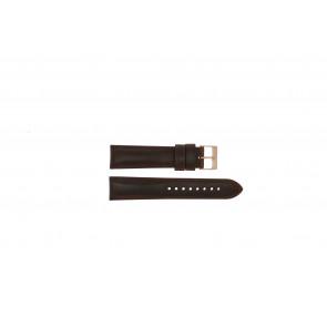 Daniel Wellington (vervangend model) horlogeband 0106DW Leder Bruin 20mm + bruin stiksel