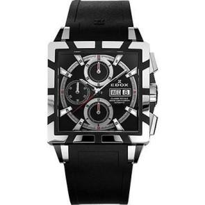 Horlogeband Edox 348349-01105 / 222193 Rubber Zwart 27mm