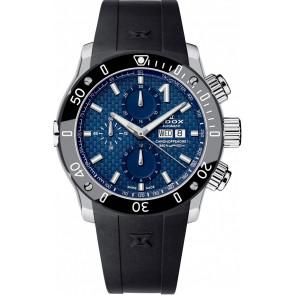Horlogeband 01122 Silicoon Zwart