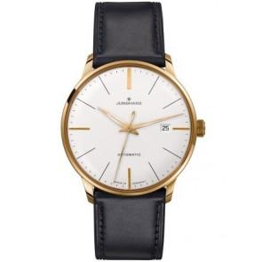Horlogeband Junghans 42050-6249 / 027/7312 Leder Zwart 20mm
