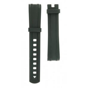 Horlogeband Omega 21032422001001-S Silicoon Zwart 20mm