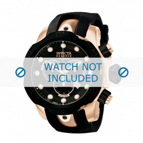 Invicta horlogeband 0361 Reserve Silicoon Zwart 26mm