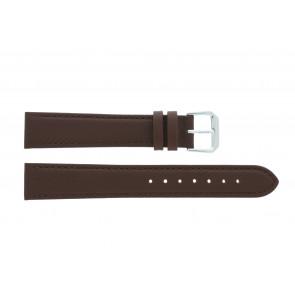 Horlogeband 054L.02.12 Leder Bruin 12mm + bruin stiksel