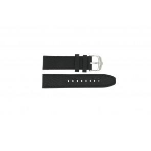 Horlogeband Swiss Military Hanowa 06-4224.04.007 Leder Zwart 22mm