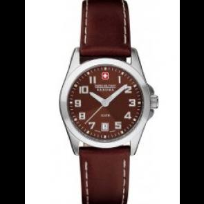 Horlogeband Swiss Military Hanowa 06-6030.04.005.05 / 6-6030 Leder Bruin 15mm