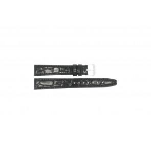 Horlogeband Condor 082R.01 Leder Zwart 14mm