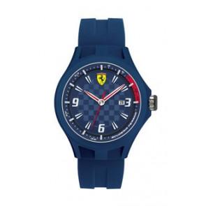Horlogeband Ferrari SF101.4 / 0830067 / SF689300097 Rubber Blauw 22mm