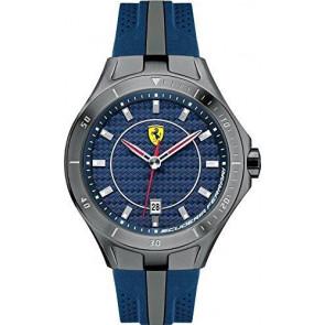 Ferrari horlogeband SF103.7 / 0830081 / SF689300057 / Scuderia Rubber Blauw 22mm