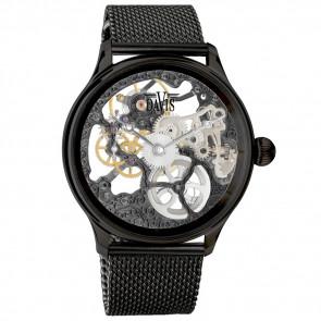 Davis horlogeband BB0898-X2 Staal Zwart 22mm