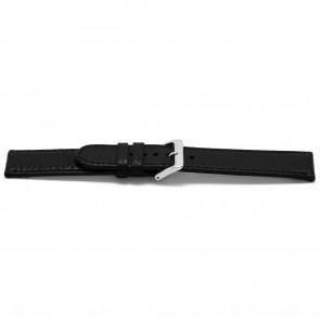 Horlogeband leder zwart 16mm EX-E113