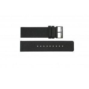 Horlogeband Obaku 116-Z Leder Zwart 24mm