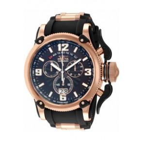 Horlogeband Invicta 12434 Silicoon Zwart