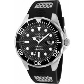 Horlogeband Invicta 12558 Silicoon Zwart 18mm