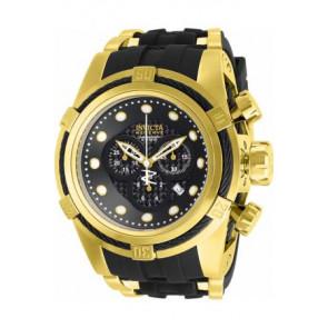 Horlogeband Invicta 12666 / 12666-01 Silicoon Zwart