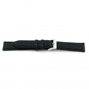 Horlogeband Universeel B131 Leder Zwart 11mm