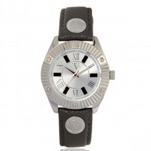 TOV Essentials horlogeband 1460 / TOV Leder Grijs 18mm + grijs stiksel