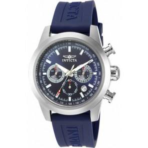Horlogeband 15200-01 Silicoon Blauw 22mm