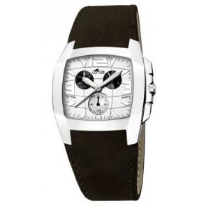 Horlogeband Lotus 15321-1 Leder Zwart