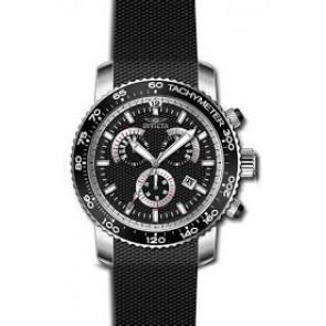 Horlogeband Invicta 17773 Silicoon Zwart 22mm