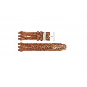 Horlogeband Universeel 247M-COGNAC Croco leder Cognac 19mm