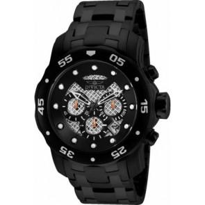 Horlogeband Invicta 25334.01 Rubber Zwart