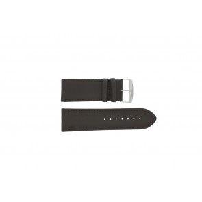 Horlogeband Universeel 306R.01 Leder Zwart 30mm