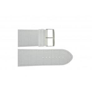Horlogeband Universeel 305.09 Leder Wit 36mm