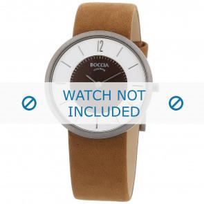 Horlogeband Boccia 3114-05 (BO3114-05-40BR) Leder Bruin
