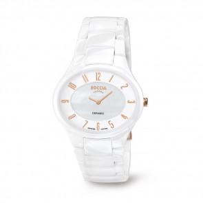 Horlogeband Boccia 3216-03 Keramiek Wit