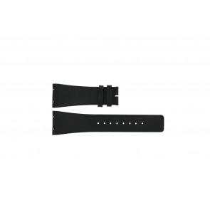 Horlogeband Boccia 3541-02 Leder Zwart 27mm