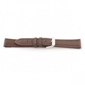 Horlogeband Universeel F372 Leder Bruin 18mm
