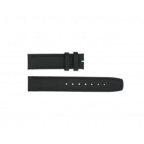 Boccia horlogeband 3771-01 Leder Zwart 20mm + standaard stiksel