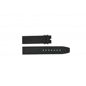 Horlogeband Boccia 3780-01 Leder Zwart 20mm