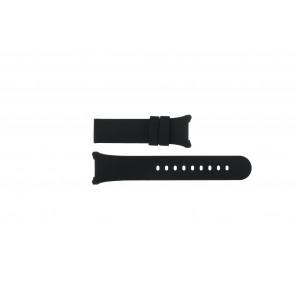 Boccia horlogeband 3782-01 / 3521-01 / 3528-01 / 3783-03 Silicoon Zwart 27mm