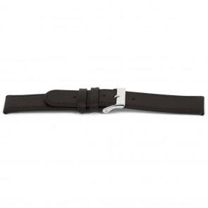 Horlogeband D400G Leder Bruin 14mm + bruin stiksel