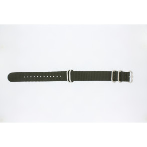 Horlogeband Universeel 409.20.27 Textiel Groen 20mm