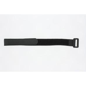 Horlogeband Universeel 412R16 Onderliggend Klittenband Zwart 16mm
