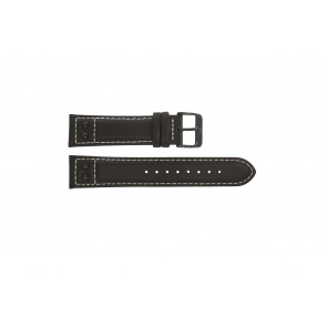 Swiss Military Hanowa horlogeband  06-4181.13.007.05 Leder Bruin 19mm + wit stiksel