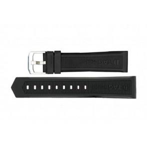 Horlogeband Tag Heuer WAH1010 / CAH1012 / BT0717 Rubber Zwart 22mm