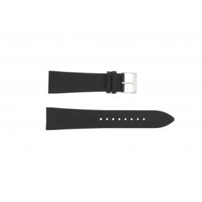 Horlogeband Junghans 42050-4963 / 030/4942.00/222987 Leder Zwart 22mm