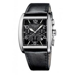 Raymond Weil horlogeband SI2801-4876-1 Leder Zwart 28mm + zwart stiksel