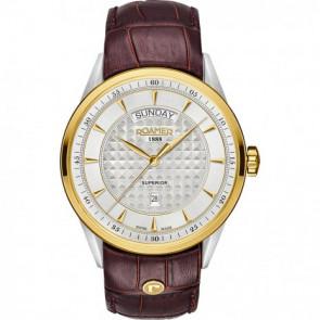 Horlogeband Roamer 508293-47-15-05 Leder Bruin 22mm