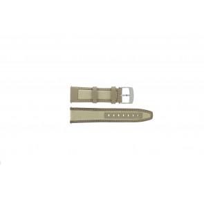 Camel horlogeband 6720-6729 / 6760-6769 Leder Lichtbruin 22mm + wit stiksel