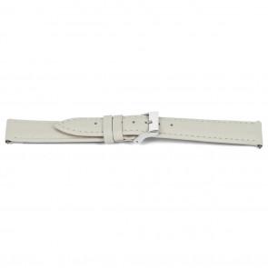 Horlogeband Universeel C514 Leder Beige 12mm