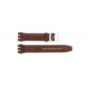 Horlogeband Universeel 51643.94.19C Leder Bruin 19mm