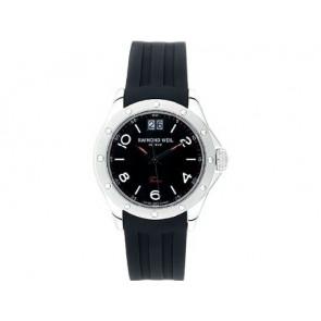 Horlogeband Raymond Weil 5595 Rubber Zwart 20mm