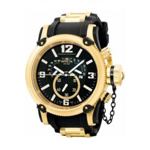 Horlogeband Invicta 5670 Silicoon Zwart