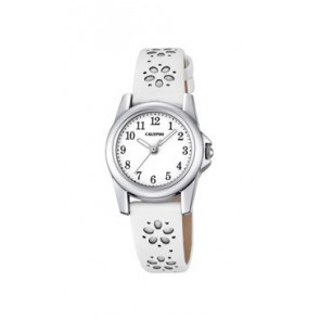 Horlogeband Calypso K5712-1 Leder Wit