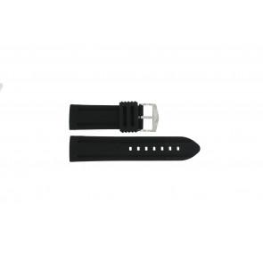 Horlogeband 5809.24 Silicoon Zwart 24mm
